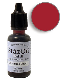 StazOn Black Cherry Re-Inker