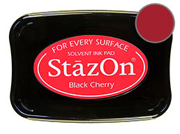 StazOn Black Cherry Ink - Stamp pad