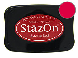 StazOn Blazing Red Ink - Stamp pad