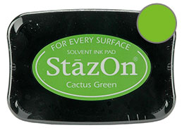 StazOn Cactus Green Ink - Stamp pad
