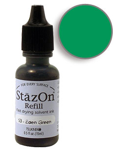 StazOn Eden Green Re-Inker