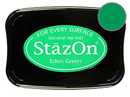 StazOn Eden Green Ink - Stamp pad