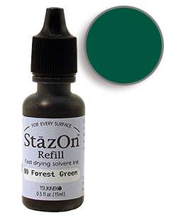 StazOn Forest Green Re-Inker