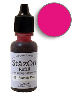 StazOn Fuchsia Pink Re-Inker