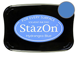 StazOn Hydrangea Blue Ink - Stamp pad
