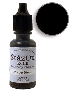 StazOn Black Re-Inker
