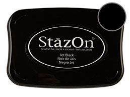 StazOn Jet Black Ink - Stamp pad