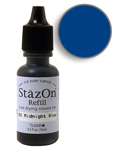 StazOn Midnight Blue Re-Inker