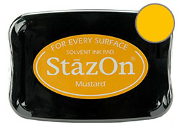 StazOn Mustard Ink - Stamp pad