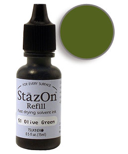 StazOn Olive Green Re-Inker