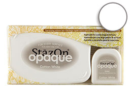 StazOn Opaque Cotton White Set