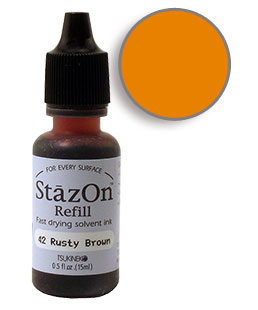 StazOn Rusty Brown Re-Inker