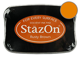 StazOn Rusty Brown Ink - Stamp pad