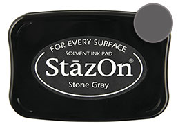 StazOn Stone Gray Ink - Stamp pad
