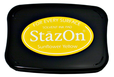 StazOn Sunflower Yellow Ink - Stamp pad