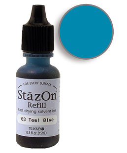 StazOn Teal Blue Re-Inker