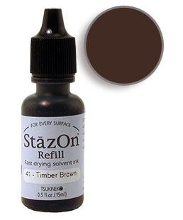 StazOn Timber Brown Re-Inker