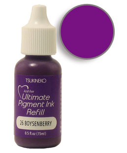 Buy a 1/2 oz. bottle of vibrant pigment-based refill ink for a boysenberry Versacolor stamp pad.