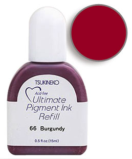 Buy a 1/2 oz. bottle of vibrant pigment-based refill ink for a burgundy Versacolor stamp pad.