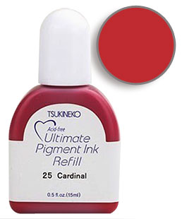 Buy a 1/2 oz. bottle of vibrant pigment-based refill ink for a cardinal Versacolor stamp pad.