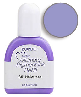 Buy a 1/2 oz. bottle of vibrant pigment-based refill ink for a heliotrope Versacolor stamp pad.