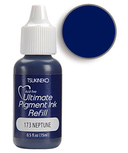 Buy a 1/2 oz. bottle of vibrant pigment-based refill ink for a neptune Versacolor stamp pad.