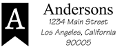 Banner Monogram Self Inking Address Stamp Sample
