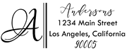 Double Lines Monogram Address Stamp Sample
