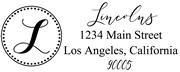 Solid Line and Dot Border Letter L Monogram Stamp Sample