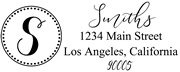 Solid Line and Dot Border Letter S Monogram Stamp Sample