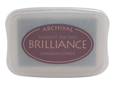 Brilliance Crimson Copper Pearlescent Ink Pad