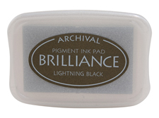 Brilliance Lightning Black Pearlescent Ink Pad