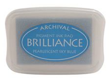Brilliance Sky Blue Pearlescent Ink Pad