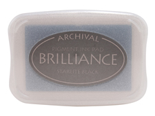 Brilliance Starlite Black Pearlescent Ink Pad