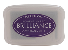 Brilliance Victorian Violet Pearlescent Ink Pad