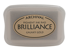 Brilliance Galaxy Gold Pearlescent Ink Pad