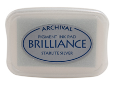 Brilliance Starlite Silver Pearlescent Ink Pad