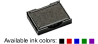 Buy a replacement ink pad for a Trodat model 4933 self-inking stamp.  Available in black, blue, green, red, or violet.