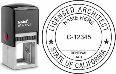 California Architect Stamp | Order a California Registered Architect Stamp Online
