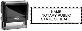 Customize and order a self-inking notary rubber stamp for the state of Idaho.  Meets all specifications and requirements for Idaho notary stamps.