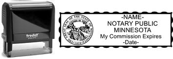 Customize and order a notary stamp for the state of Minnesota. Meets all specifications and requirements for Minnesota notary stamps.