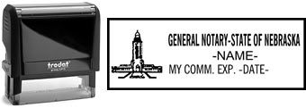 Customize and order a self-inking notary rubber for the state of Nebraska.  Meets all specifications and requirements for Nebraska notary stamps.