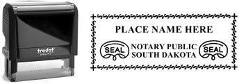 Customize and order a self-inking notary rubber stamp for the state of South Dakota.  Meets all specifications and requirements for South Dakota notary stamps.