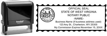 West Virginia Business Notary Stamp | Order a West Virginia Business Notary Public Stamp Online