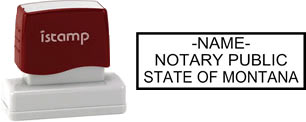 Customize and order a pre-inked notary stamp for the state of Montana.  Meets all specifications and requirements for Montana notary stamps.