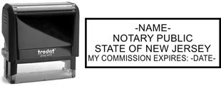 Customize and order a self-inking notary rubber stamp for the state of New Jersey.  Meets all specifications and requirements for New Jersey notary stamps.
