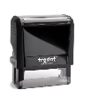Trodat 4914 custom rubber stamp: Self-inking, medium quality.  Up to 20,000 impressions before needs re-inking.