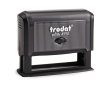 Trodat 4918 custom rubber stamp: Self-inking, medium quality.  Up to 20,000 impressions before needs re-inking.
