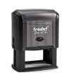 Trodat 4928 custom rubber stamp: Self-inking, medium quality.  Up to 20,000 impressions before needs re-inking.