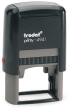 Trodat 4941 custom rubber stamp: Self-inking, medium quality.  Up to 20,000 impressions before needs re-inking.
